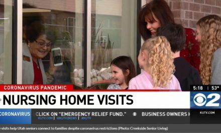 Window visits help Utah seniors connect to families despite coronavirus restrictions
